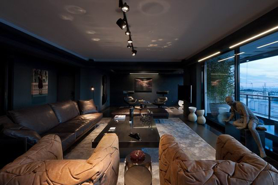 雅典卫城skyfall apartment照明设计图片