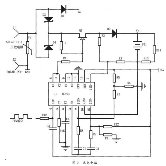 太阳能,市电互补led路灯控制器研究