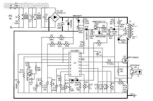 电路原理的变化在于变压器的设计,以及基于ncs1002的恒定电流/恒定