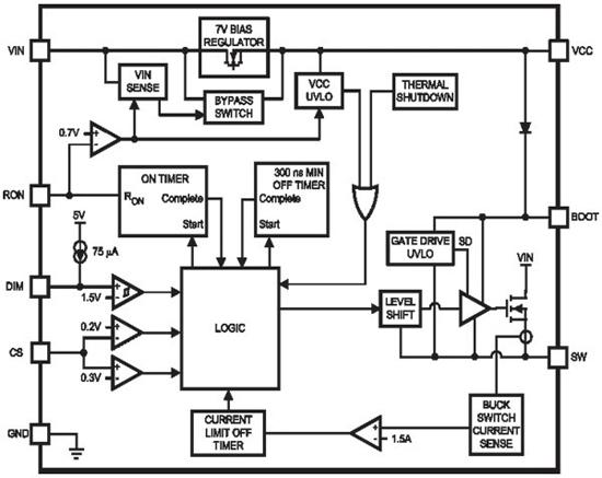 lm3404内部电路结构图