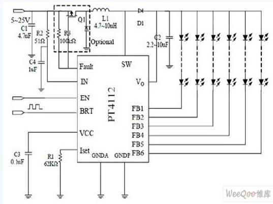 pt4112的技术特点及典型应用电路