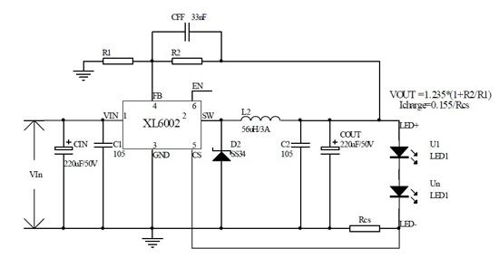测试数据见下图表,在输入电压36v,输出从1 颗灯到10 颗1w led