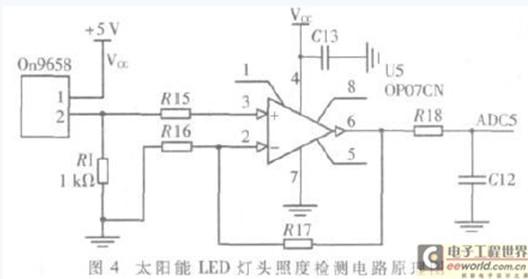 太阳能led路灯状态传感器节点的设计