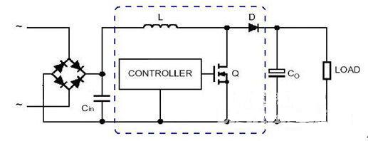 有源功率控制器电路不仅需要控制用的ic,还要有chock线圈与mosfet及快